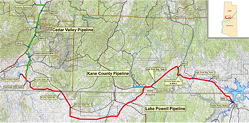 Proposed easement for Lake Powell Pipeline